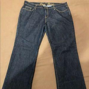 GAP premium Bootcut dark wash jeans size 16/33R